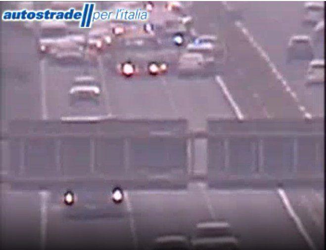Autostrada A1 incidente tra Colleferro e Valmontone oggi 11 giugno 2021