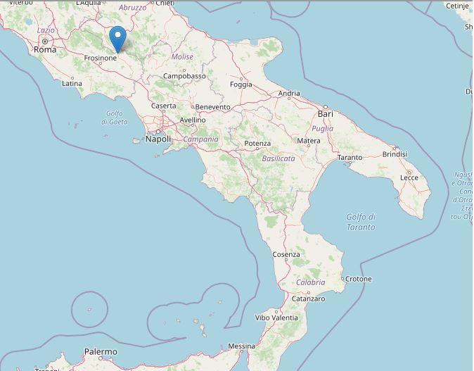 scossa terremoto ciociaria sora 22 giugno 2021