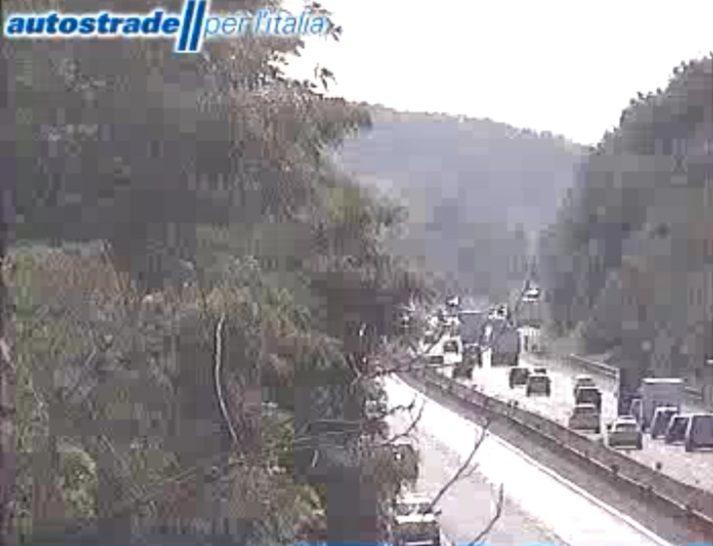 A1 incidente tra Colleferro e Valmotnone oggi 21 luglio 2021