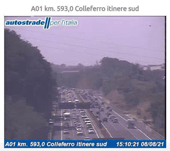 A1 incidente tra Colleferro e Anagni oggi 8 agosto 2021